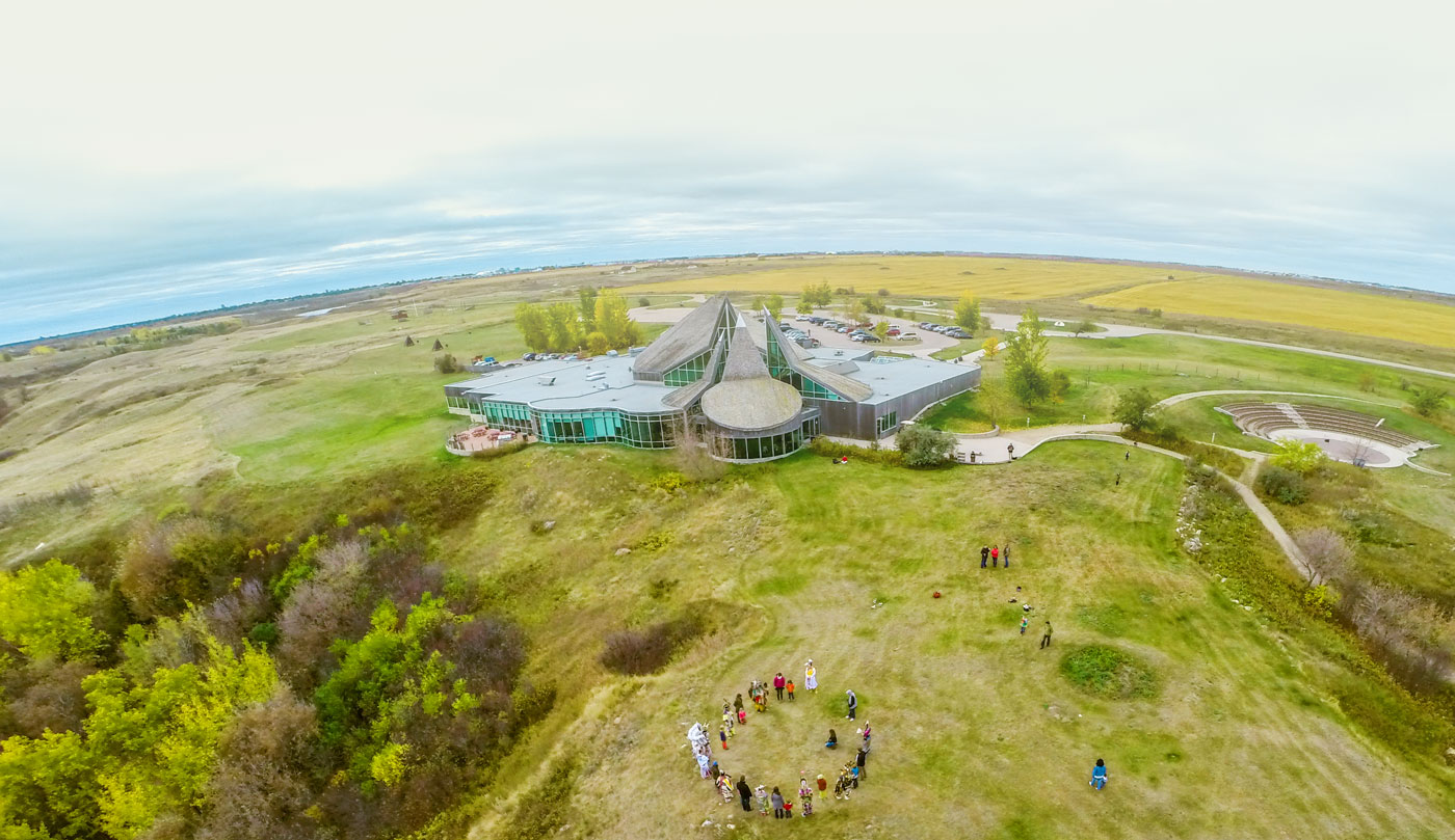 Overhead shot of Wanuskewin